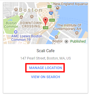 Manage Google business listing to add posts