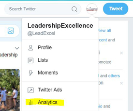 how to locate your twitter analytics